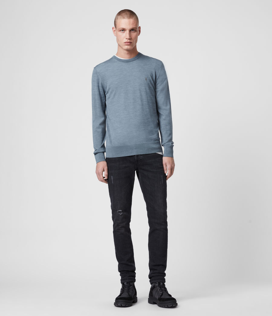 Hommes Pull Mode Merino (light_grey_marl) - Image 7