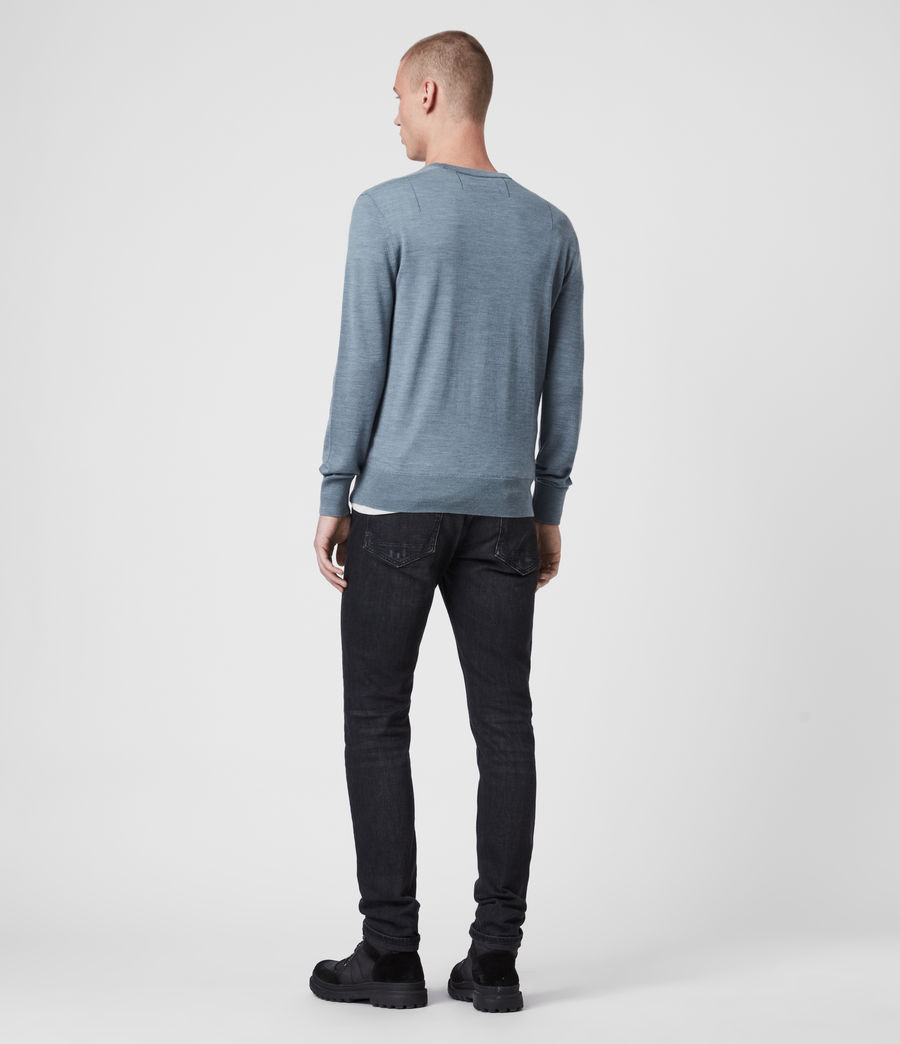 Mens Mode Merino Crew Sweater (haze_blue_marl) - Image 4