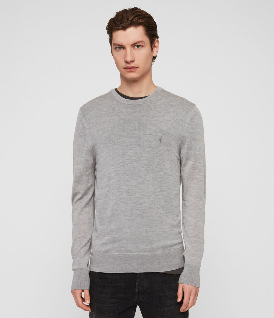 Mens Mode Merino Crew Sweater (space_blue_marl) - Image 1