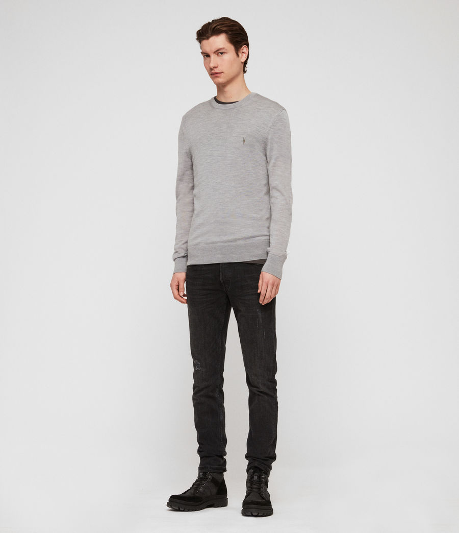 Mens Mode Merino Crew Sweater (space_blue_marl) - Image 3