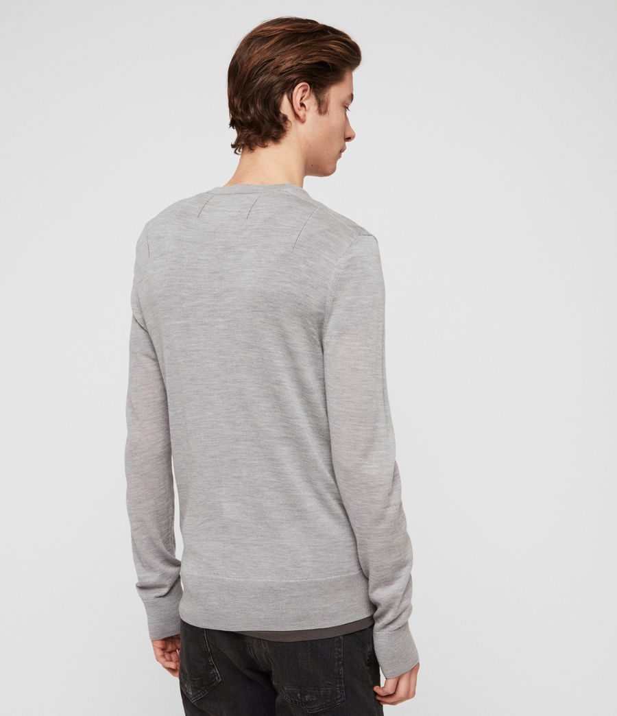 Mens Mode Merino Crew Sweater (space_blue_marl) - Image 4