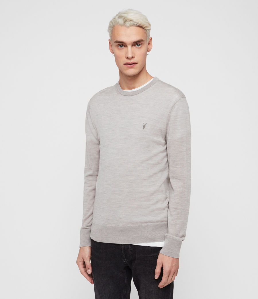Mens Mode Merino Crew Sweater (pier_blue) - Image 1