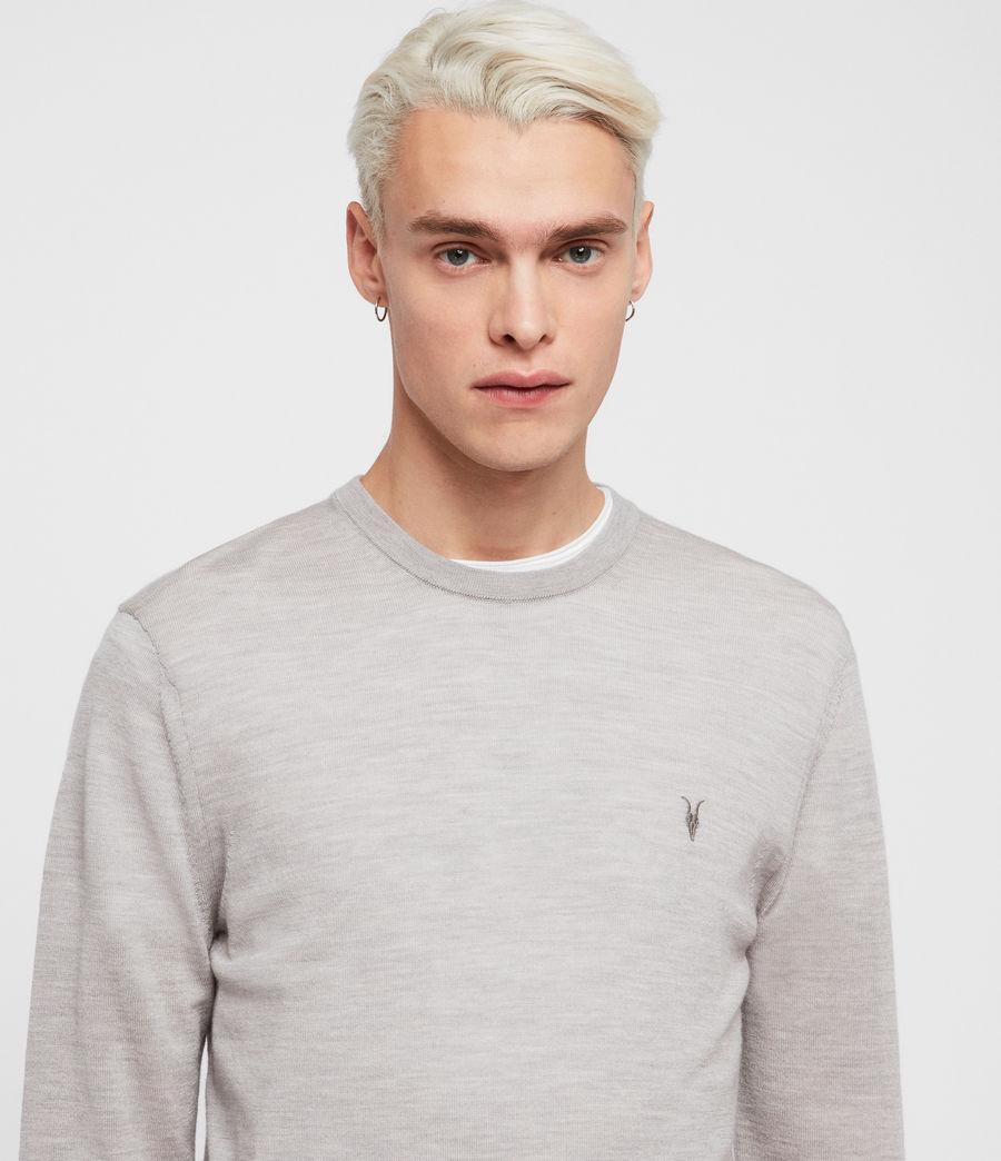 Mens Mode Merino Crew Sweater (pier_blue) - Image 2