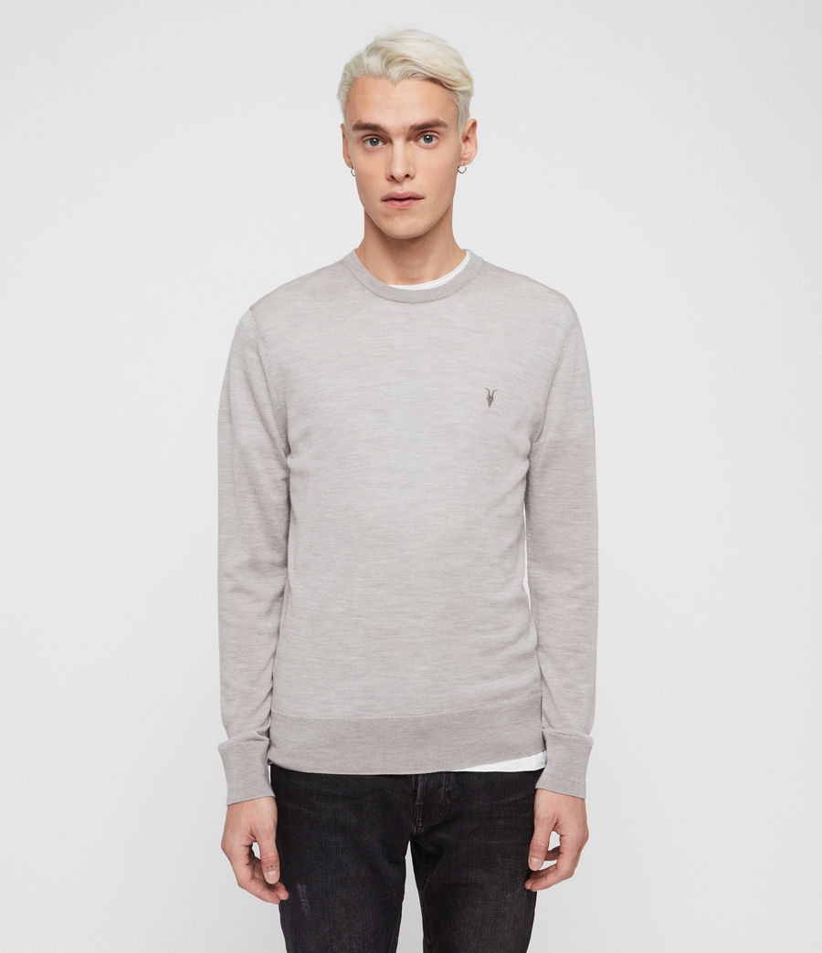 Mens Mode Merino Crew Sweater (pier_blue) - Image 4