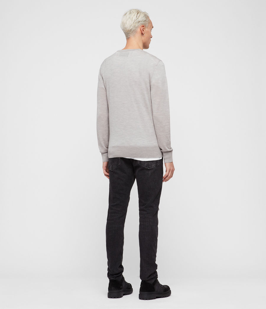 Mens Mode Merino Crew Sweater (pier_blue) - Image 5