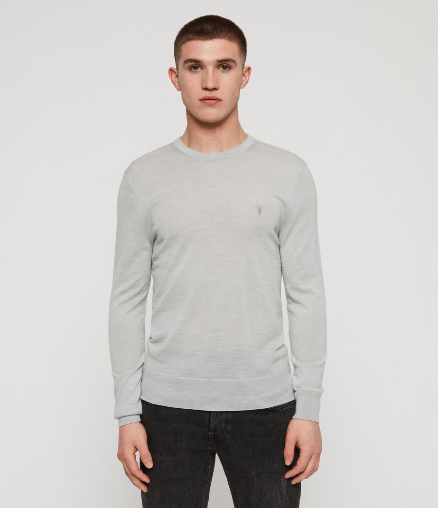 Mens Mode Merino Crew Sweater (sky_blue_marl) - Image 1