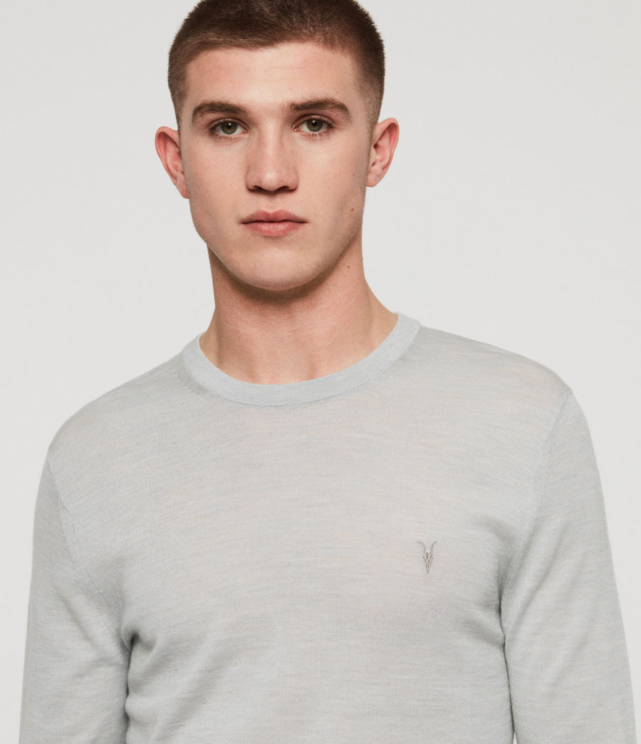 Mens Mode Merino Crew Sweater (sky_blue_marl) - Image 2