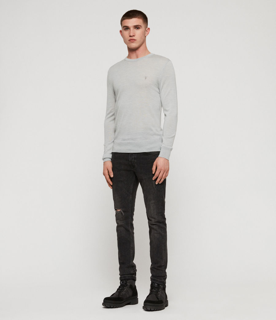 Mens Mode Merino Crew Sweater (sky_blue_marl) - Image 3