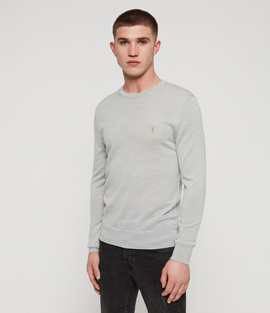Mens Mode Merino Crew Sweater (sky_blue_marl) - Image 4