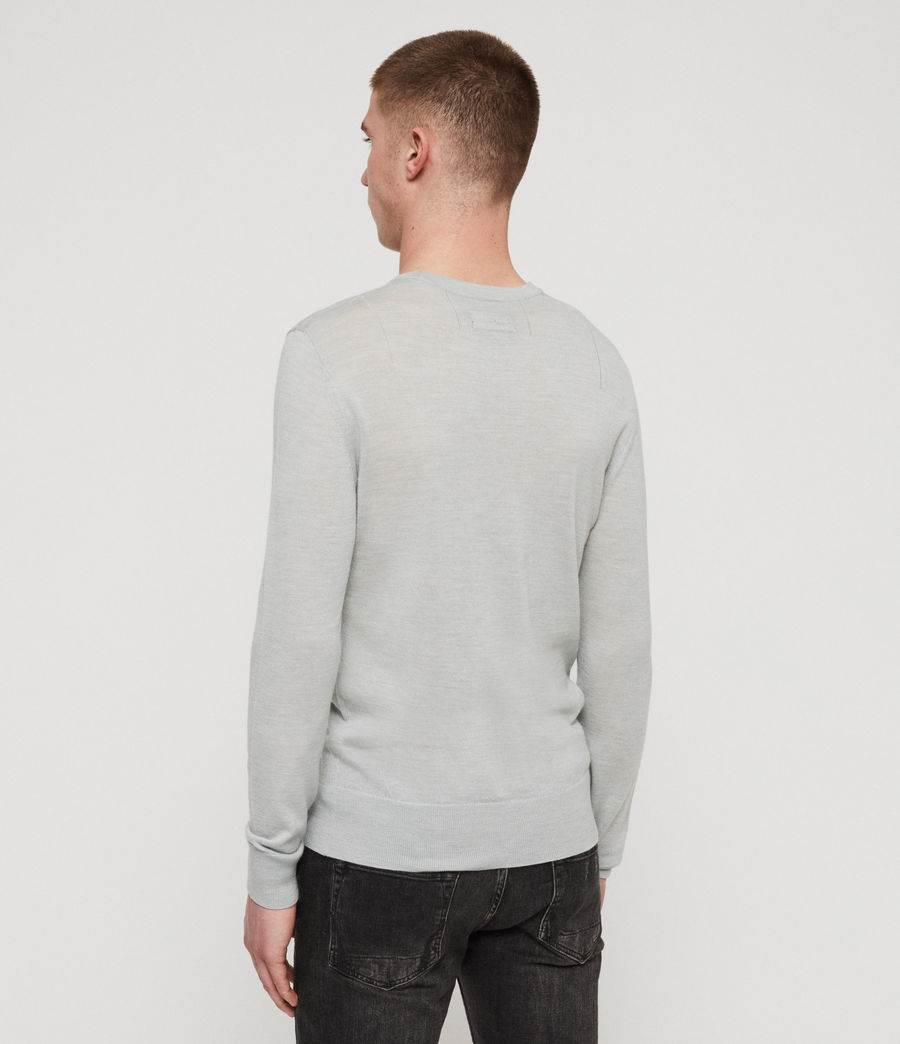 Mens Mode Merino Crew Sweater (sky_blue_marl) - Image 5