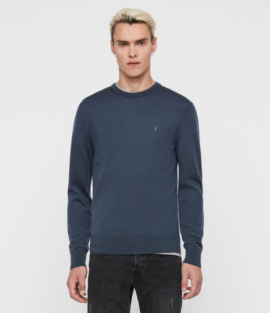 Mens Mode Merino Crew Sweater (deer_grey_marl) - Image 1