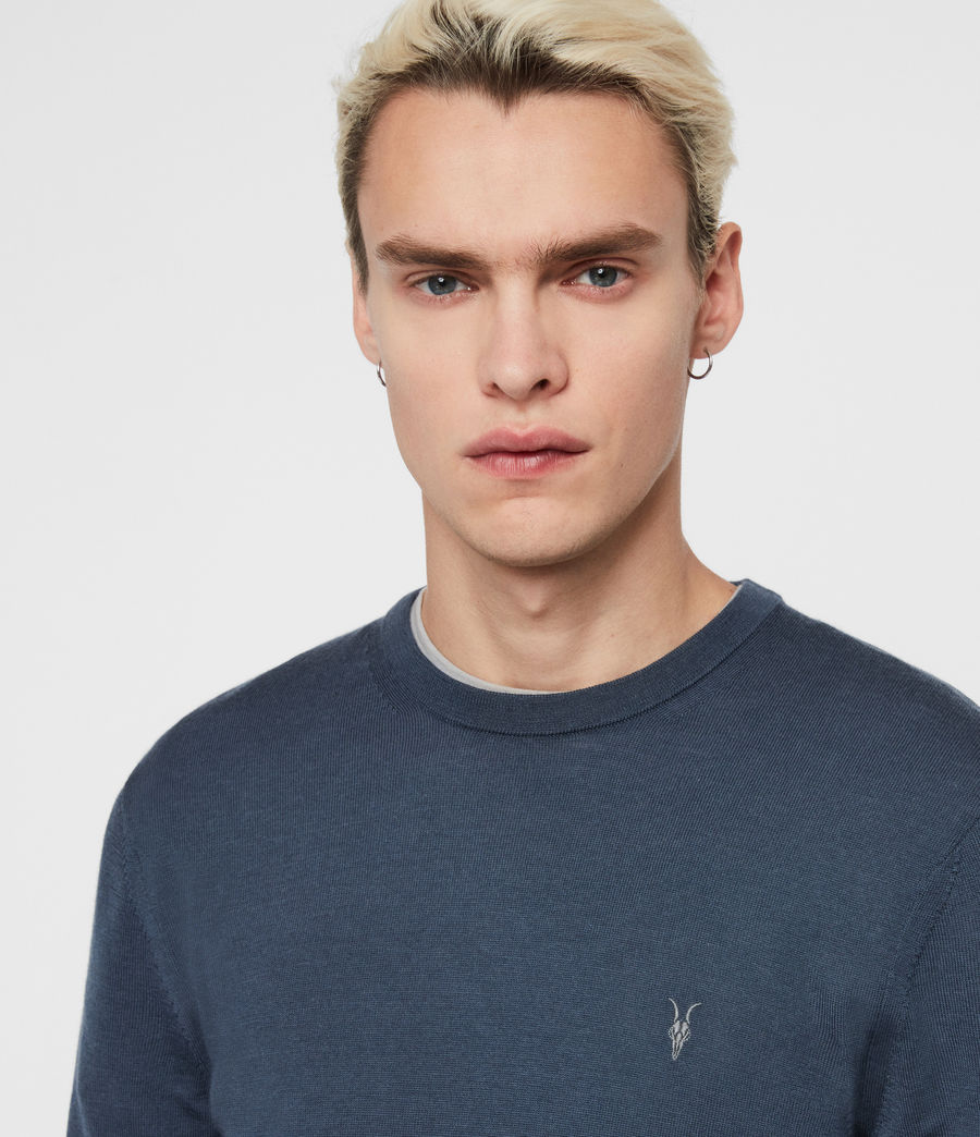 Men's Mode Merino Crew Jumper (black) - Image 2