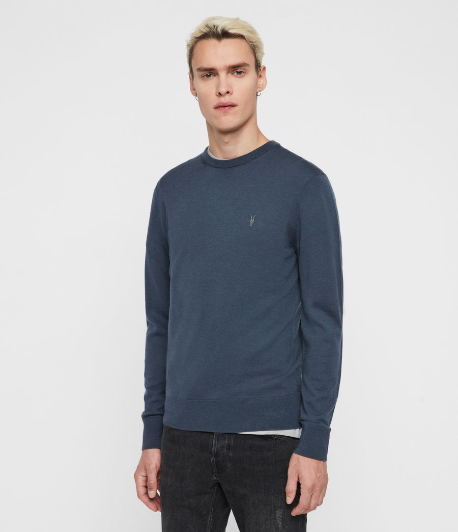 Mens Mode Merino Crew Sweater (deer_grey_marl) - Image 3