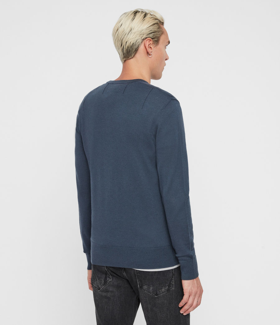 Mens Mode Merino Crew Sweater (deer_grey_marl) - Image 4