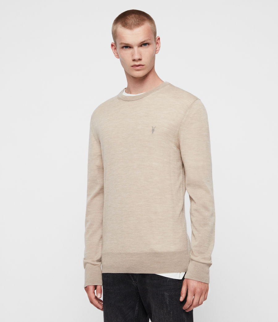 Mens Mode Merino Crew Sweater (engine_grey_marl) - Image 1