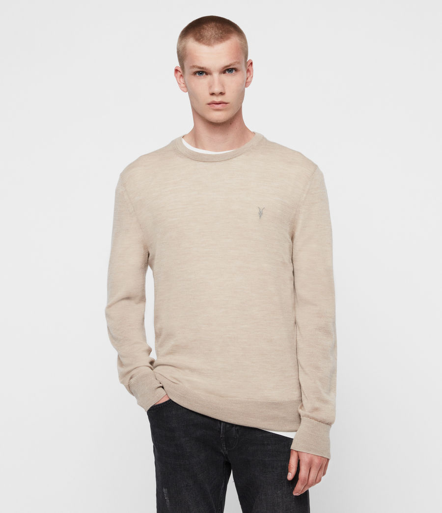 Mens Mode Merino Crew Sweater (engine_grey_marl) - Image 3