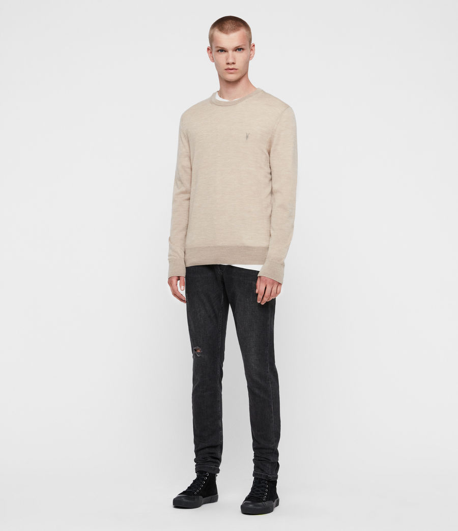 Mens Mode Merino Crew Sweater (engine_grey_marl) - Image 4