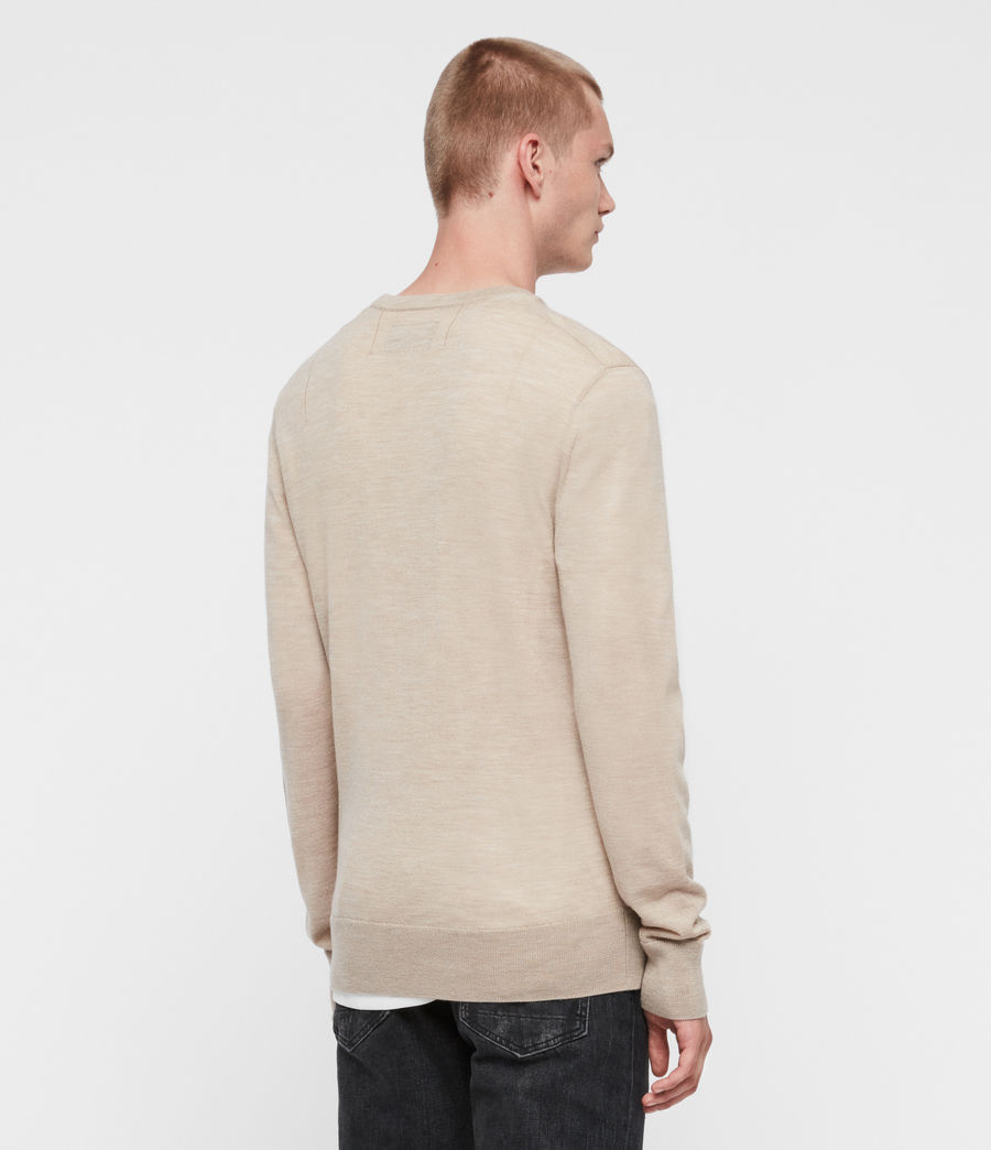 Mens Mode Merino Crew Sweater (engine_grey_marl) - Image 5
