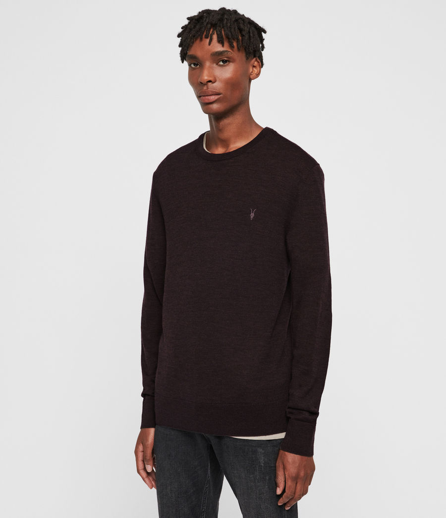 Hombre Mode Merino Crew Sweater (engine_grey_marl) - Image 4
