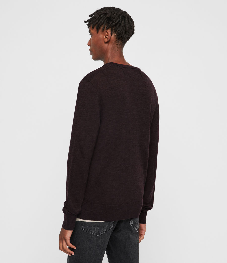 Hombre Mode Merino Crew Sweater (engine_grey_marl) - Image 5