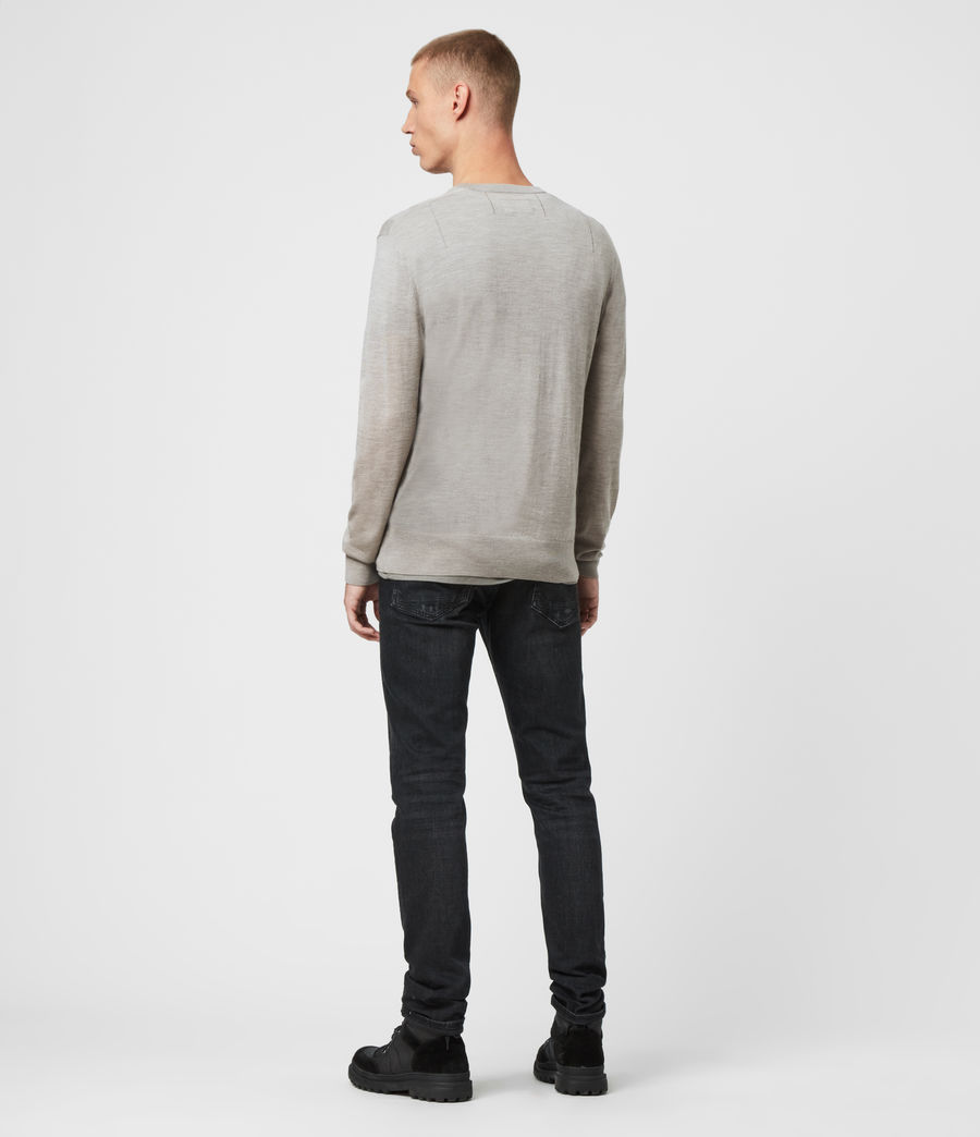 Men's Mode Merino Crew Jumper (grey_marl) - Image 5