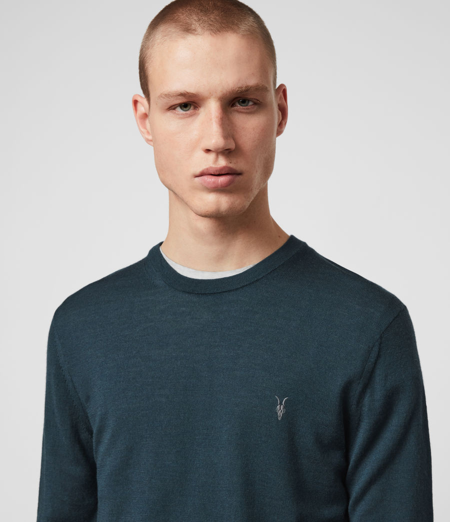 Mens Mode Merino Crew Sweater (grey_marl) - Image 2