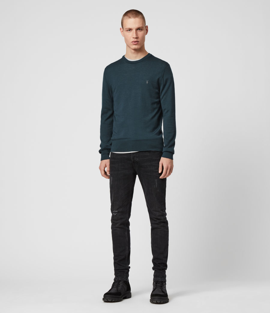 Mens Mode Merino Crew Sweater (grey_marl) - Image 3