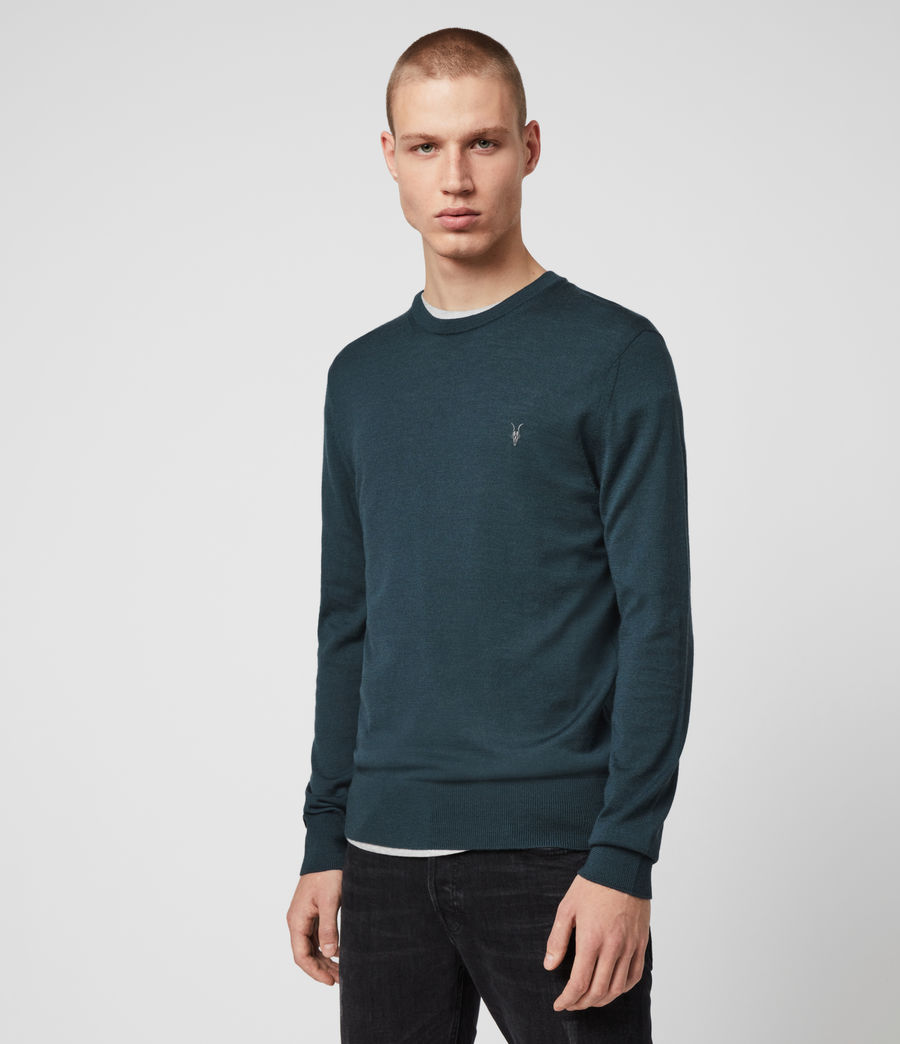 Mens Mode Merino Crew Sweater (grey_marl) - Image 4