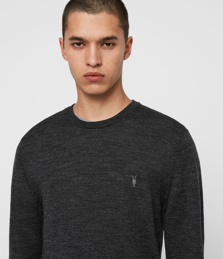 Men's Mode Merino Crew Jumper (ink_navy) - Image 2