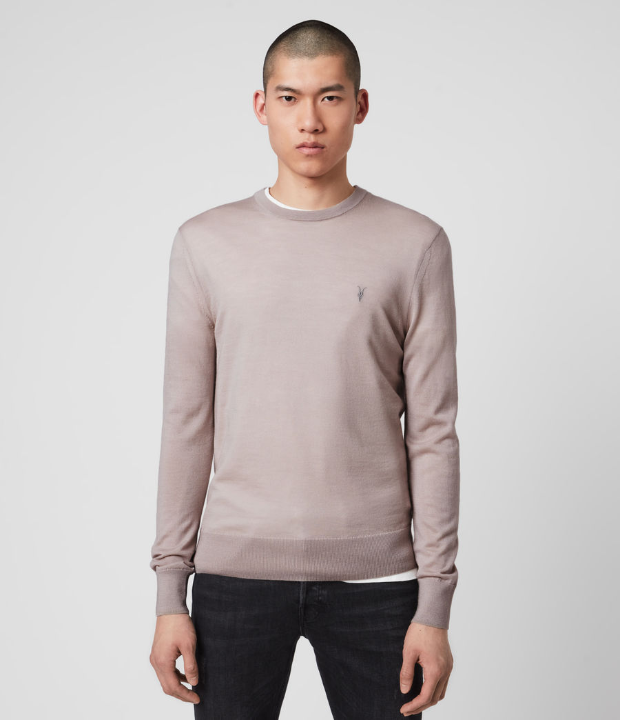 Mens Mode Merino Crew Sweater (grain_taupe) - Image 1
