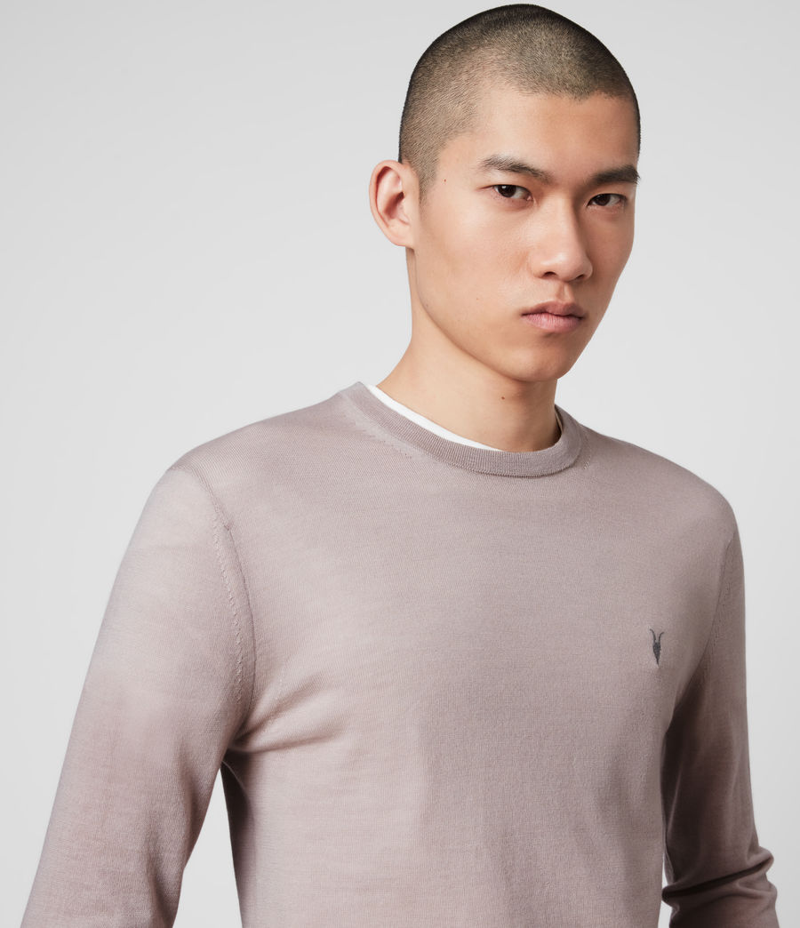 Mens Mode Merino Crew Sweater (grain_taupe) - Image 2