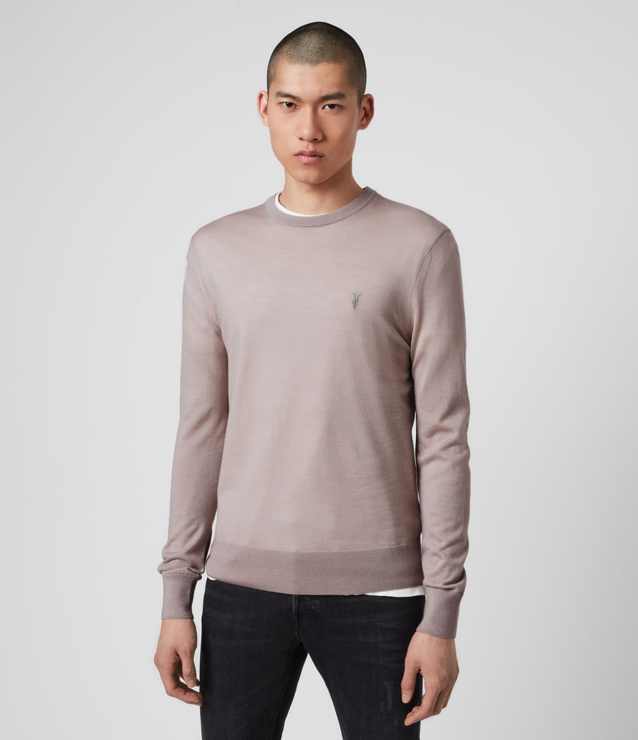 Mens Mode Merino Crew Sweater (grain_taupe) - Image 4