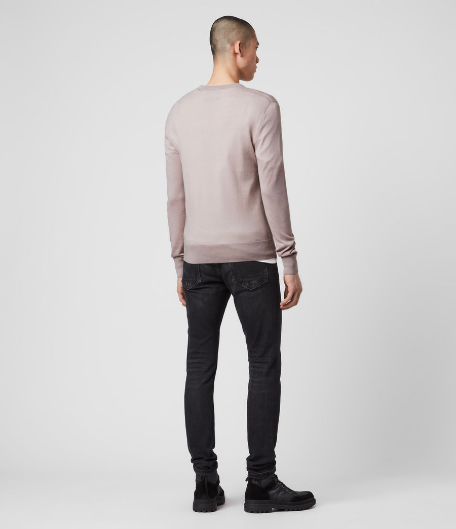 Mens Mode Merino Crew Sweater (grain_taupe) - Image 5