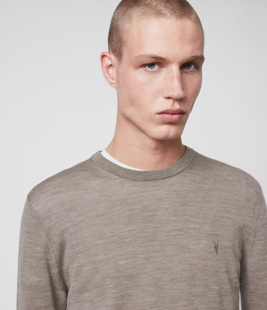Mens Mode Merino Crew Sweater (sage_green_marl) - Image 2