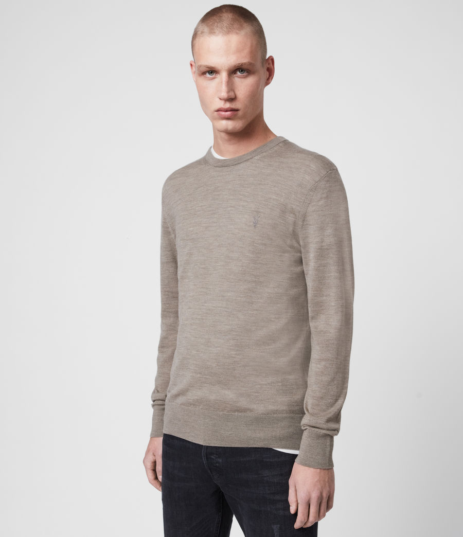 Mens Mode Merino Crew Sweater (sage_green_marl) - Image 3