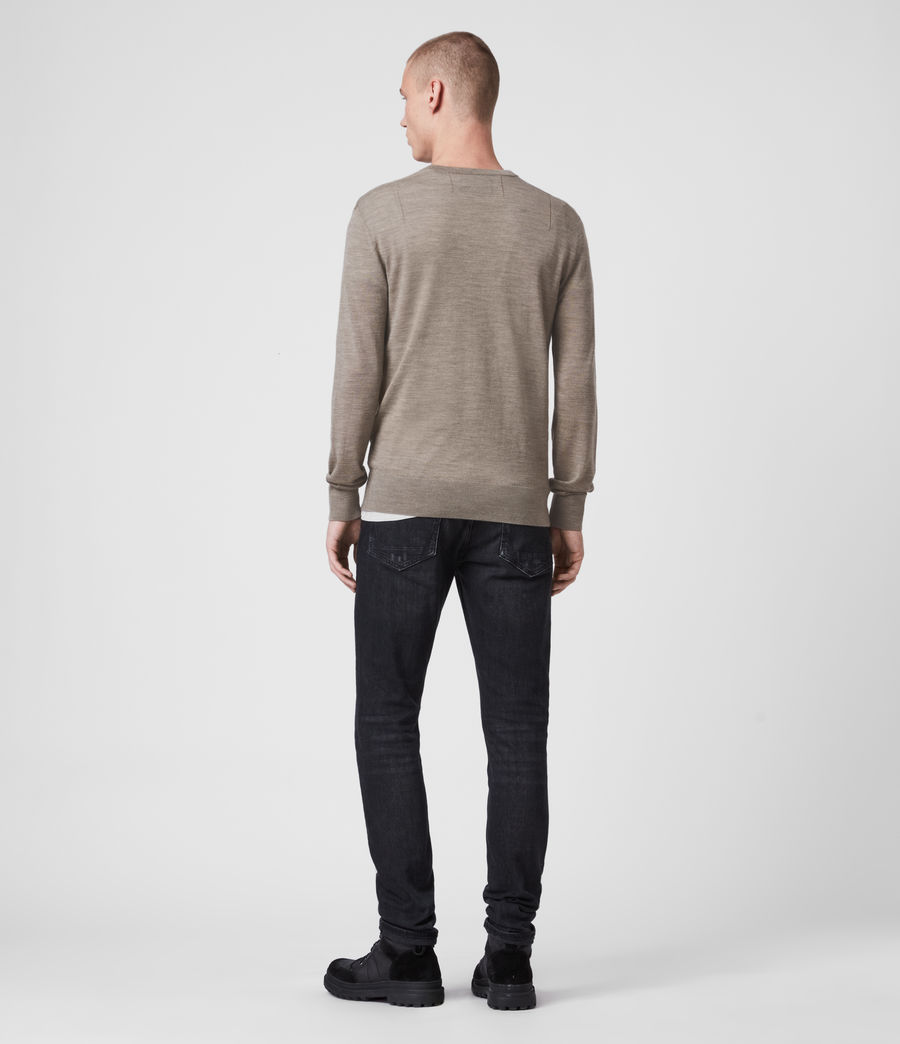 Mens Mode Merino Crew Sweater (black) - Image 4