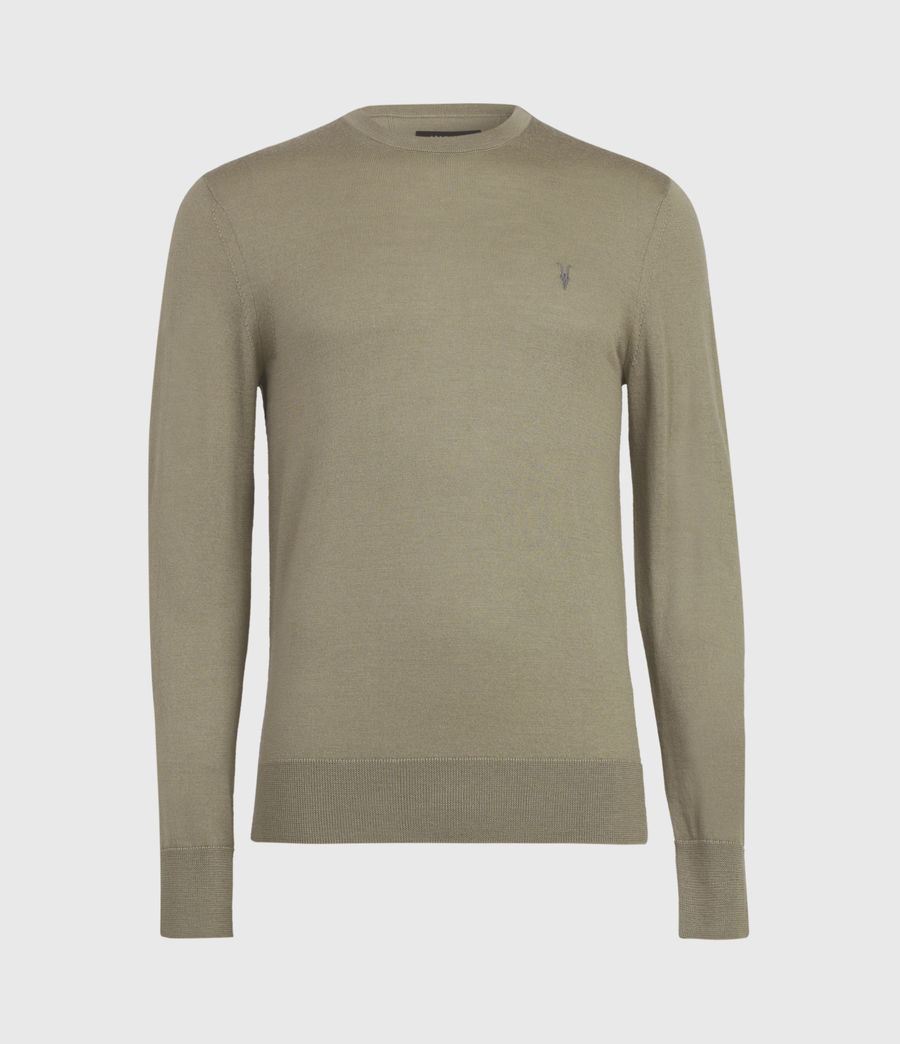 Mens Mode Merino Crew Sweater (safari_taupe) - Image 2