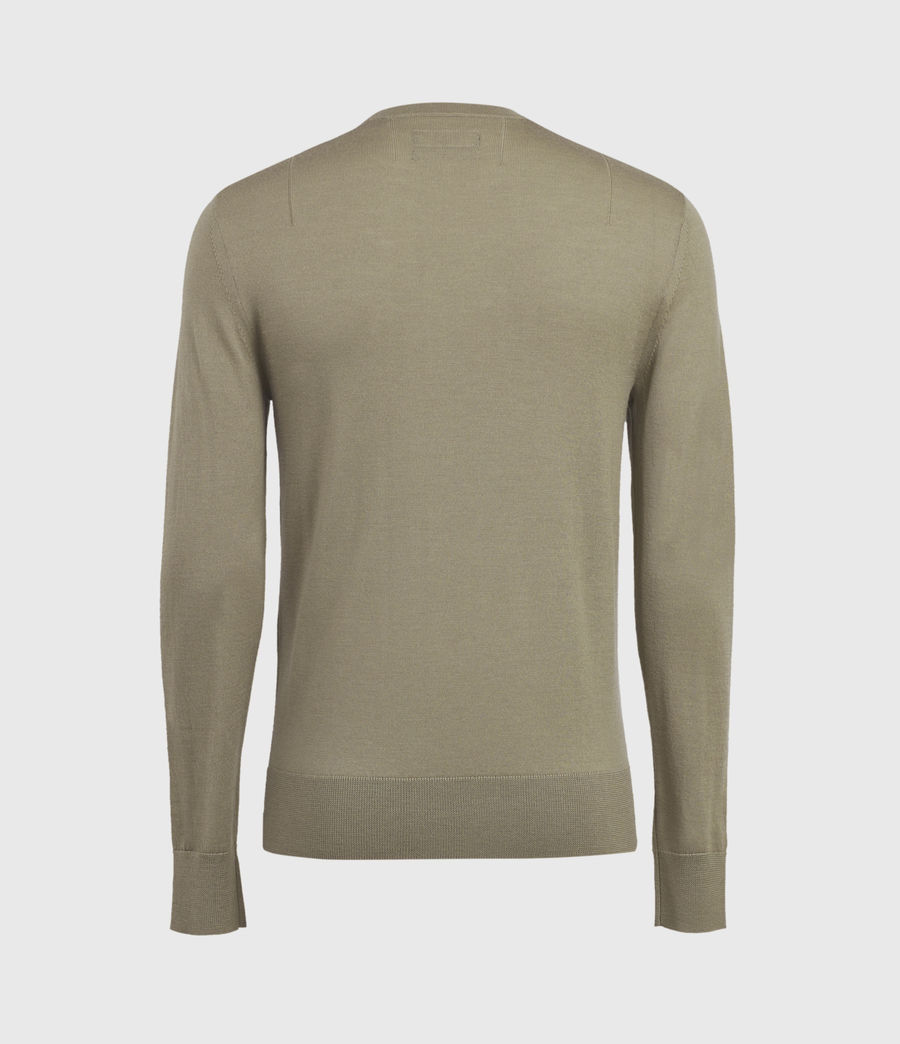 Mens Mode Merino Crew Sweater (safari_taupe) - Image 3