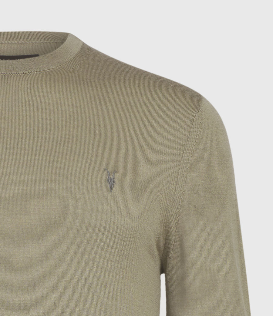 Mens Mode Merino Crew Sweater (safari_taupe) - Image 4