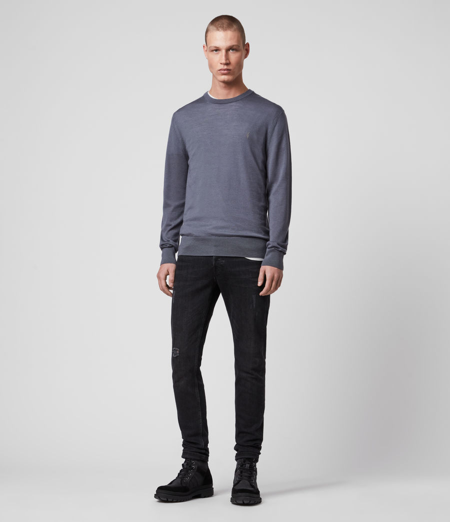 Men's Mode Merino Crew Jumper (black) - Image 3