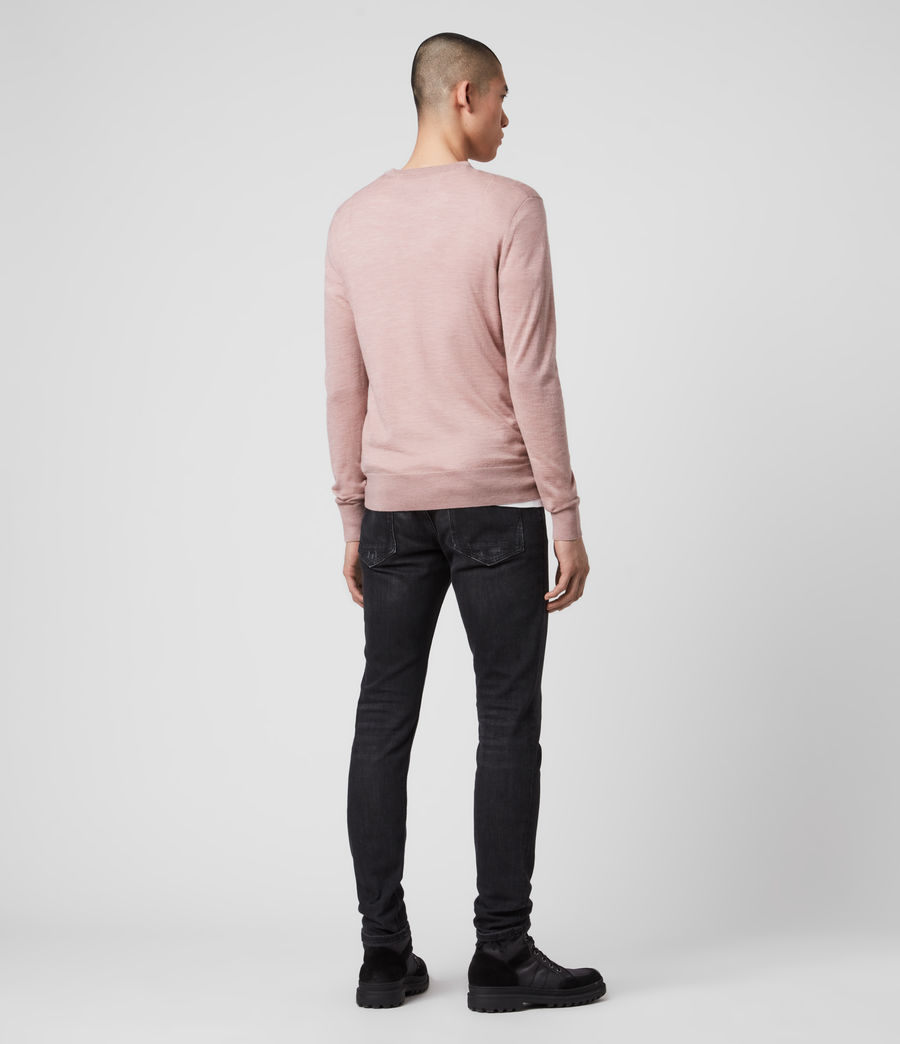 Mens Mode Merino Crew Sweater (sunset_pink_marl) - Image 5