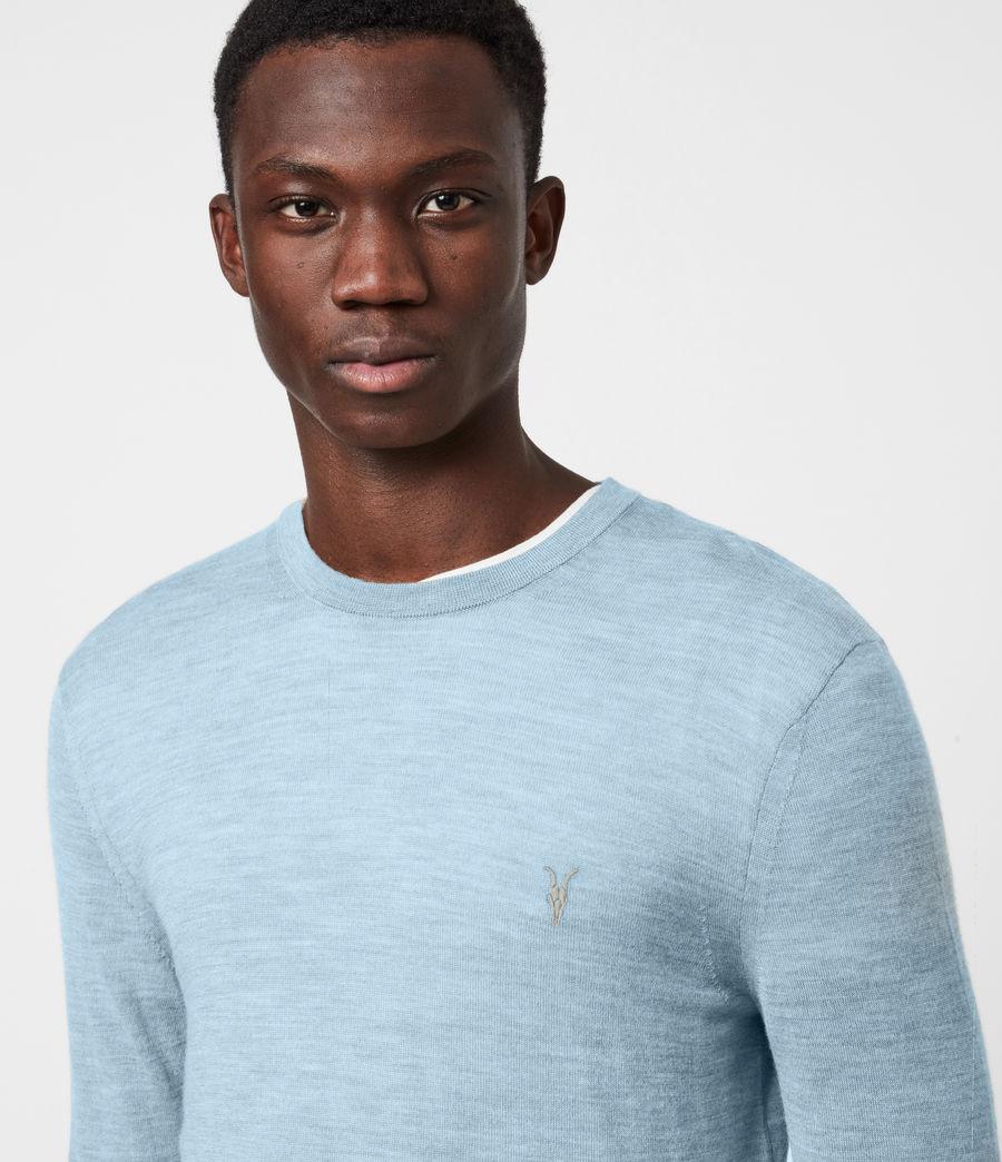 Mens Mode Merino Crew Sweater (grey_marl) - Image 4