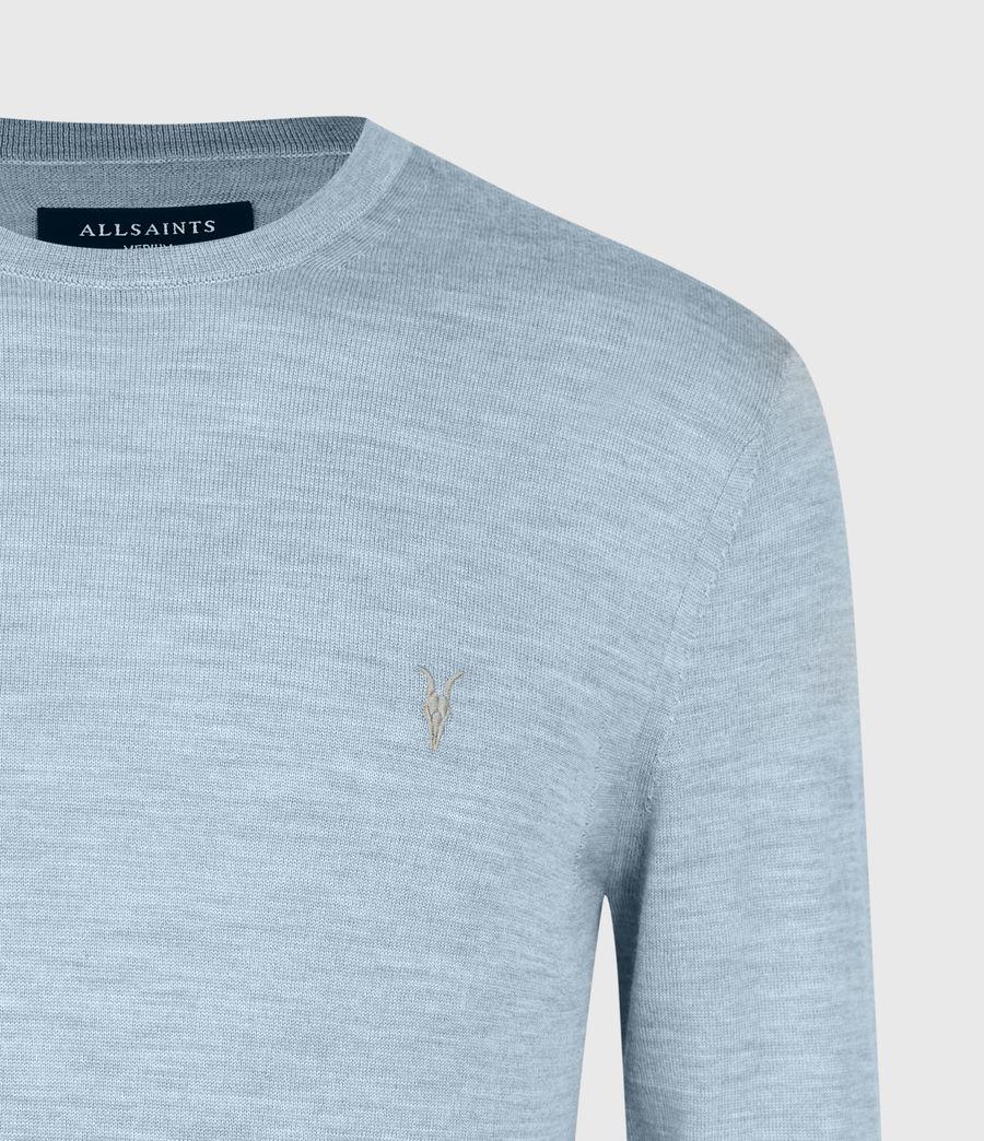 Mens Mode Merino Crew Sweater (grey_marl) - Image 5