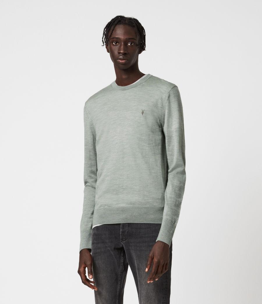 Mens Mode Merino Crew Sweater (thyme_green_marl) - Image 3