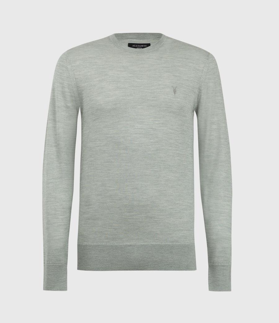 Mens Mode Merino Crew Sweater (thyme_green_marl) - Image 2