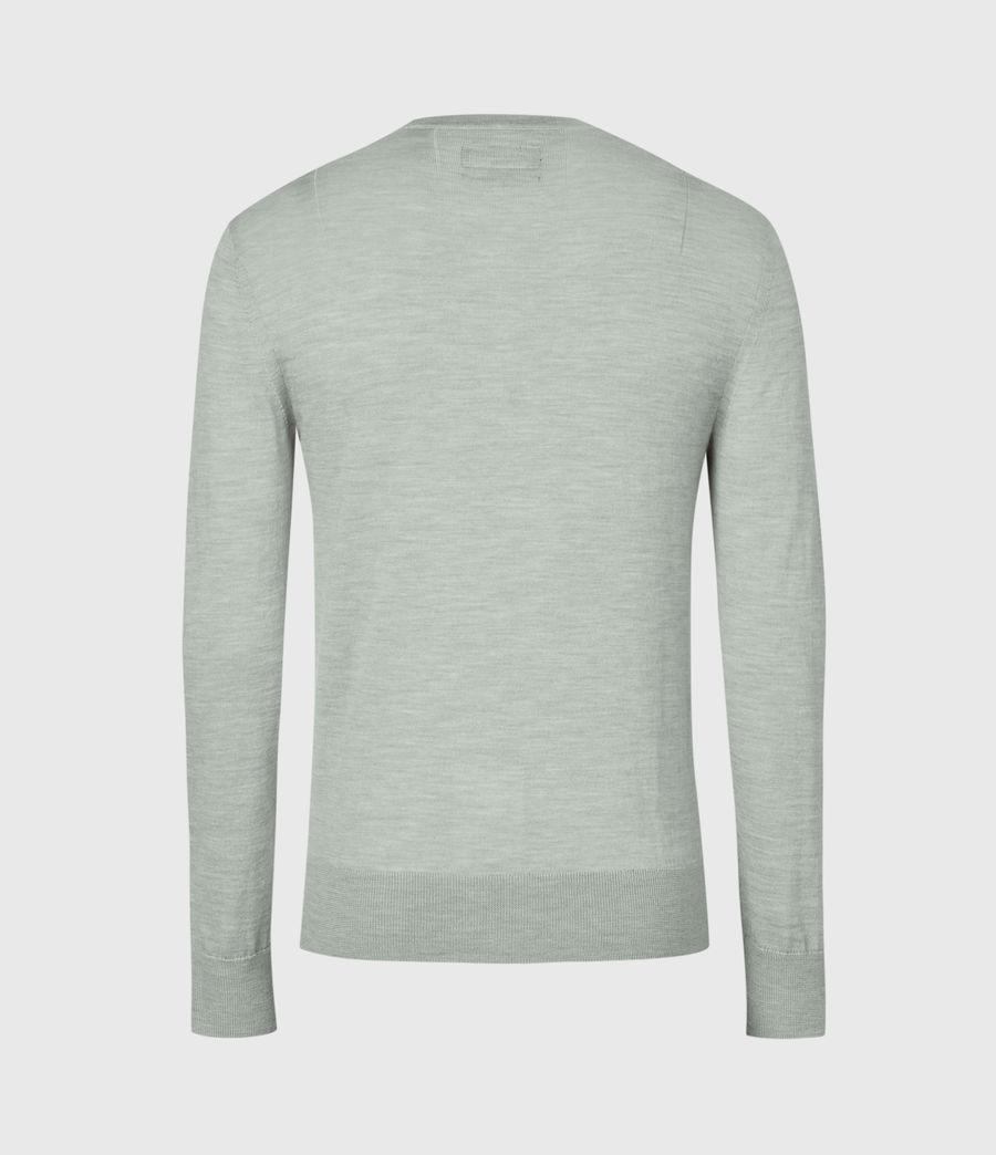 Mens Mode Merino Crew Sweater (thyme_green_marl) - Image 1