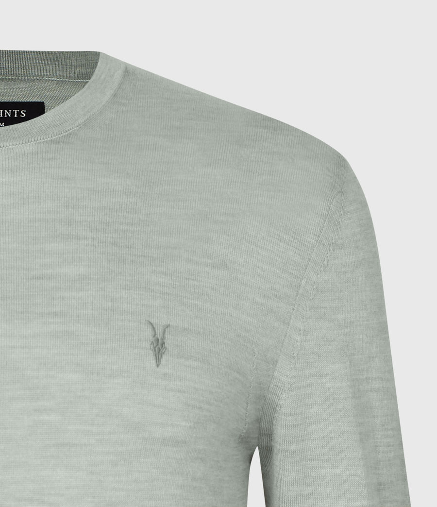 Mens Mode Merino Crew Sweater (thyme_green_marl) - Image 6