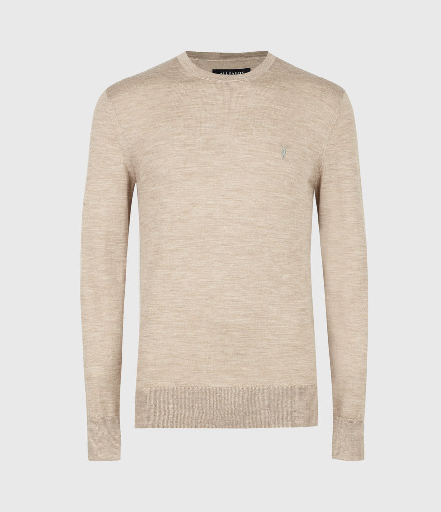 Men's Mode Merino Crew Jumper (light_grey_marl) - Image 2
