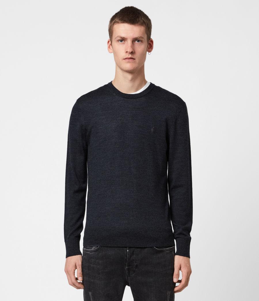 Mens Mode Merino Crew Sweater (grey_marl) - Image 1