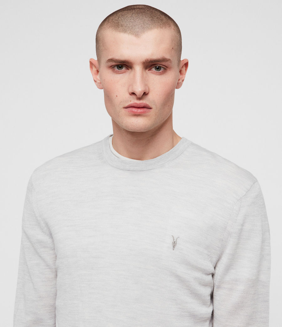 Herren Mode Merino Pullover (light_grey_marl) - Image 2